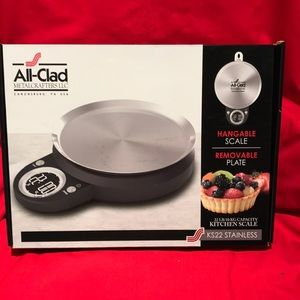 All-Clad 22 lb Kitchen Scale Removable SS PLate